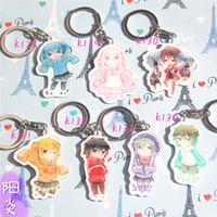 Wholesale Momo Star - 7pcs sePortachiavi Mekakucity Actors Squatter Version Kagerou Project Anime Kido Seto Marry Momo Ene Shintaro Hibiya Konoha Keyring Keychain