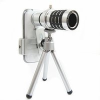 Wholesale camera for lenovo - Universal 12X Zoom Telescope Camera Mobile Phone Lens + Mini Tripod + Adjustable Clip For Samsung iPhone Lenovo