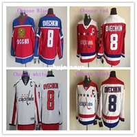 Wholesale Dry Ice Delivery - New Quick delivery! Men's #8 Alex Ovechkin Best High quality Hockey Jersey