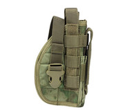 Wholesale Molle Panels - 1000D Molle Platform Panel with Pistol Holster for Right Hand Airsoft Tactical Combat Gun Holster Outdoor Hunting Holsters