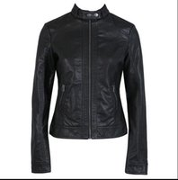 Wholesale Leather Bomber Jacket Women - Spring New British Style Casual Fashion Plus Size XS-3XL Female Motorcycle Slim Leather Jacket Chaqueta Bomber Mujer for Women Women leather