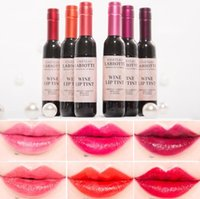 Wholesale Wine Baby Pink - Cute Wine Bottle Shape Long-lasting Lip Gloss Baby Pink Waterproof Matte Liquid Lipstick Lip Tint Dumb smooth lip gloss 6 Colors