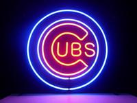 ingrosso segni della birra da baseball-insegna al neon CUB BASEBALL VETRO REALE NEON LIGHT BEER BAR PUB SEGNO vero tubo di vetro leggero fatto a mano bar beer club nella parete sala giochi