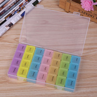 Wholesale Bead Storage Box 24 - 60pcs HOT 24 Independent Slot Jewelry Packaging Box Clear Best Organizer Storage Beads Box Plastic Jewelry Adjustable Tool Bins ZA0869