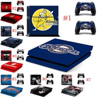 Wholesale Design Skin Sticker - Mix Order Wholesale Leaf Design New Vinyl Skins Sticker for Sony PS4 PlayStation 4 and 2 Controllers Skins Cover