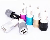 Wholesale Dual Car Bullets - 2016 Metal Dual USB Car Charger 2.1A Bullet Car Chargers For iPhone 6 6s Plus 7 Samsung Galaxy S7 Note 7
