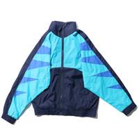 цвет куртки оптовых-Цвет блок Batwing рукавом с плеча тонкий стиль куртки мужчины 2017 Осень повседневная мужская куртки 7139OU