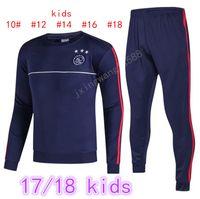 Wholesale Boys Suit Sizes - thai quality 2016 2017 ajax Soccer training suit kids size 16 17 HUNTELAAR ZIYECH DOLBERG NOURI KLUIVERT soccer tracksuit shirts