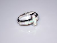 Wholesale Rings Stone Fire - Wholesale & Retail Fashion Fine White Fire Opal Ring 925 Silver Plated Jewelry For Women EMT1517014