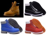 Wholesale Clear Red Rainboots - 2016 New Arrival 10060 High help Boots Classic Mid Ankle Women Mens for Best quality Leather Fashion Outdoor Work Snow Boot Size 31-46