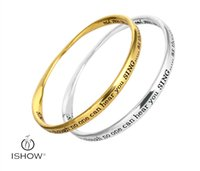 Wholesale Anti Hear - Personality unisex copper Bangle anti-gold &sliver plated hear your sing letter men or women bracelets 3pcs