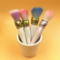 Wholesale antique makeup - New Les Merveilleuses De Laduree Makeup Brush Set Antique Style 4pcs Wool brushes+1pc Brushes holder+1pcs handheld mirror Lady Beauty Tool