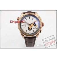 Wholesale Grand Calibre 36 Tags - 2016 Luxury Brand White Quartz Chronograph Rose Golden Men's Watches Grand Calibre 36 date watch calipre original clasp Leather mens watches