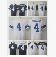 Wholesale El Flash Clothes - Fine embroidery, American men's rugby, Dallas cowboys, #4, PRESCOTT, black, blue, white, rugby jerseys, outdoor sports clothes