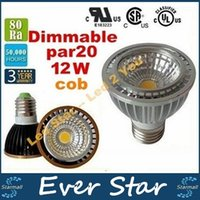 E27 Led Ampoules PAR20 12W torchis Dimmable Led Spotlights lampe GU10 E14 Led AC 110-240V CE ROHS ul saa