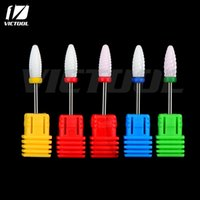 Wholesale Wholesale Rotary Tool Bits - Wholesale-1 piece Victool High Quality Ceramic Nail Drill Bit Rotary Burr For Electric Manicure Machines Pedicure Files Nail Salon Tools