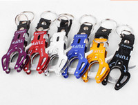 Wholesale Wholesale Keychain Rings Clips - Wholesale Fashion Durable Snap Clip Climb Hook Carabiner Clip Lock Keychain Keyring Key Ring New