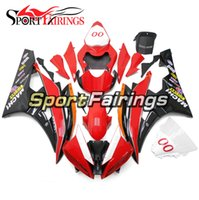 Brilho Red White Black Injection Fairings para Yamaha YZF600 YZF R6 06 07 2006 - 2007 ABS Motorcycle Full Fairing Kit Bodywork Cowling