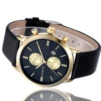 Wholesale Mens Watches Date Waterproof - 5Colors 2015 New mens fashion watches men Casual Waterproof Date Leather Military Watch men wristwatches les montres hommes