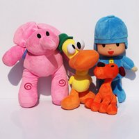 Wholesale Gifts Sets For Children - 4pcs Set 12-26cm Kids Brinquedos Gift Pocoyo Elly & Pato & POCOYO & Loula Stuffed Plush Toys Good Gift For Children