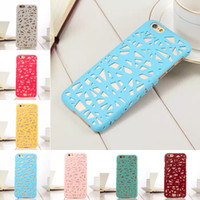 Wholesale Nest Phone Case - Hot 3D Building Hollow Bird Nest Rubberized Plastic Hard Phone Cases Cover For iPhone 6 6G 6S 4.7 inch