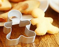 Lega di alluminio Cookie Bakeware Mold Natale Cookie Cutter Tools Gingerbread Men Shaped Biscuit Mould Kitchen DIY Strumenti di stampo