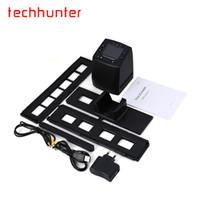 escáner de color usb al por mayor-Al por mayor- Techhunter EC717 5MP 35mm Película Negativa Visor de diapositivas Escáner USB Digital Color Foto Copiadora con 24 Horas de envío rápido