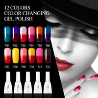 Wholesale Temperature Nail Gel - Azure Beauty 10Pcs Temperature Nail Gel Varnish 12ML New 42 Colors Soak Off Long-Lasting UV Nail Gel Polsih