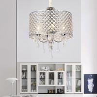 Wholesale rustic art for sale - Nordic American crystal chandelier lighting k9 led chandelier iron art Living room dining room bedroom light Modern