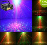 Club Bar RG Laser BLAUE LED Bühnenbeleuchtung DJ Home Party 5 Objektiv 80 Patterns Show Professionelle Projektor Light Disco EU / US / UK / AU AC.110V-220V