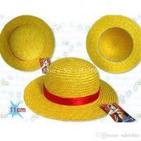 Wholesale Luffy One Piece Cap - 100% High Quality One Piece Caps Anime Luffy Cosplay Straw Hats
