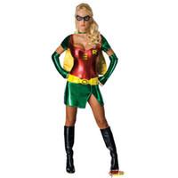 Wholesale Sexy Woman Robin Costume - Robin Sexy Superhero Licensed Women Costume Plus Size