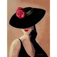ingrosso pitture astratte signora-Modern art abstract Lady in rosa dipinti ad olio su tela per la decorazione domestica dipinta a mano
