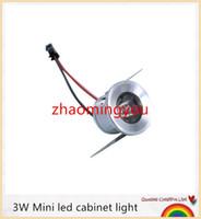 Wholesale Light Blue Red Yellow Bedding - YON 10pcs lot 3W Mini led cabinet light AC85-265V mini led spot downlight include led drive CE ROHS ceiling lamp mini light