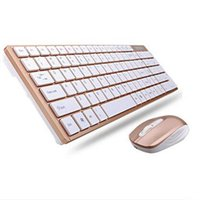 Wholesale Ergonomics Laptop - New Office and Home Set 2.4GHz Mini Slim Metal Wireless Keyboard And Mouse Kit For PC Laptop Top Quality Office Set