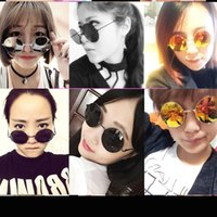 Wholesale Prince Frames - Fashion retro round sunglasses, round sunglasses, Prince Edward mirror, high quality tide men and women bright sunglasses wholesale