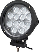 "atv cree luces led al por mayor-Luz de trabajo LED 7 ""60W CREE LED Barra de trabajo ligera 12-LED * (5W) Luz de trabajo de conducción SUV ATV 4WD 4x4 Jeep Flood Spot Beam Lámpara de carro 5100lm IP67"