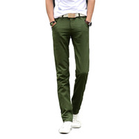 Wholesale Straight Pantalones - Wholesale-Free Shipping 2016 New Arrival Men Slim Fit Casual Pants Chinos Pantalones Mens Fashion Straight Skinny Trousers 13M0572