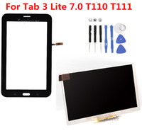 Wholesale T111 Touch Panel - For Samsung Galaxy Tab 3 7.0 Lite SM-T110 T111 Touch Screen Tab 4 Lite T116 T113 LCD Display Panel Screen Replacement 1pcs