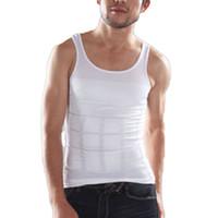 Wholesale Tights Nylons Plus Size - Wholesale-Summer Ventilation Comfort Men Body Slimming Vest Chest And Abdomen Tight Waist Breathable Underwear