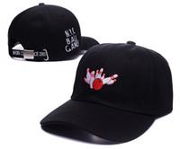 ingrosso ciotole di protezione della baseball-CALDO 2016 New NYC BALL GAME Ball Cap Regolabile Sport Cappelli Uomo Donna Berretti da baseball Cappello da sole Cappelli da golf Outdoor Caps palla da bowling