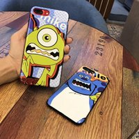 Wholesale Iphone Mike - For iPhoneX Cartoon Disny Mike Monsters Glossy TPU Soft Cover case (10pcs lot) 6s 7plus 8PLUS Shell Body Protection