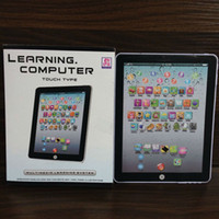 Barato Telefones Da Máquina De Aprendizagem Do Miúdo-Mais novo Y-Pad Inglês Learning Laptop Computer Game Música Phone Learning Machine Kids Educational Tablet Toy DHL envio E1910