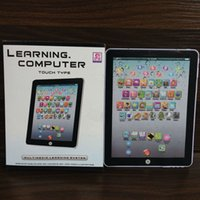 Wholesale Wholesale Mini Tablets - Newest Y-Pad English Learning Laptop Computer Game Music Phone Learning Machine Kids Educational Tablet Toy DHL shipping E1910