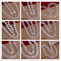 Wholesale Tibet Bone Beads - New arrival unisex sterling silver Necklace GTP61,fashion fish bone bead 925 silver Necklace 6 pieces a lot mixed style