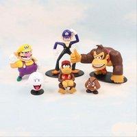 Wholesale Game Kong - Super Mario Bros Vallio monkey King Kong toys 6 design EMS Free new children PVC Super Mario Bros 3-8cm Animation game series toy B