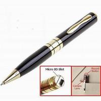 Wholesale mini digital dvr online - Hot selling Mini Pen cameras HD Digital Video recorder USB Flash Drive PC webcam Mini DVR Writing pen for meeting classes