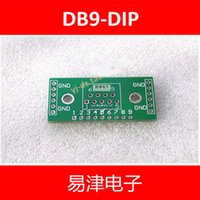 Wholesale Uart Adapter - Wholesale-FREE SHIPPING 20PCS DB9 DR9 turn DIP UART-RS232 IC adapter Socket   Adapter plate PCB
