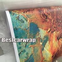 Wholesale Vinyl Wrap Prints - Rust Vinyl Car Wrap Film Matte Rust Printed sticker for Car wrap Vehicle & Boat Decocation Graphics auto skin covering 1.52x30m Roll 5x98ft