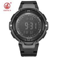 ingrosso cronometro elettronico digitale-NUOVA Moda OHSEN Digital Watch Men Relogios Cronometro Sport Watch Men Rubber Band LED Data Day Display Electronic Wrsit Watches